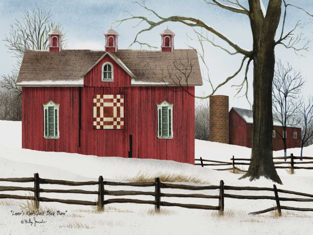 Lovers Knot Quilt Block Barn Jacobs, Billy 148856