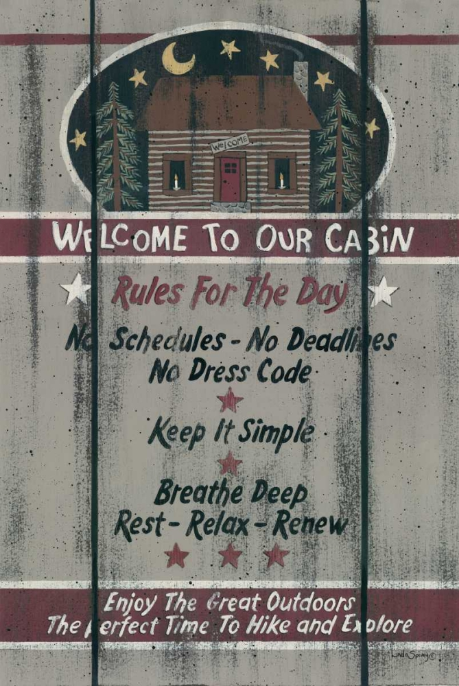 Cabin Rules for the Day Spivey, Linda 97312