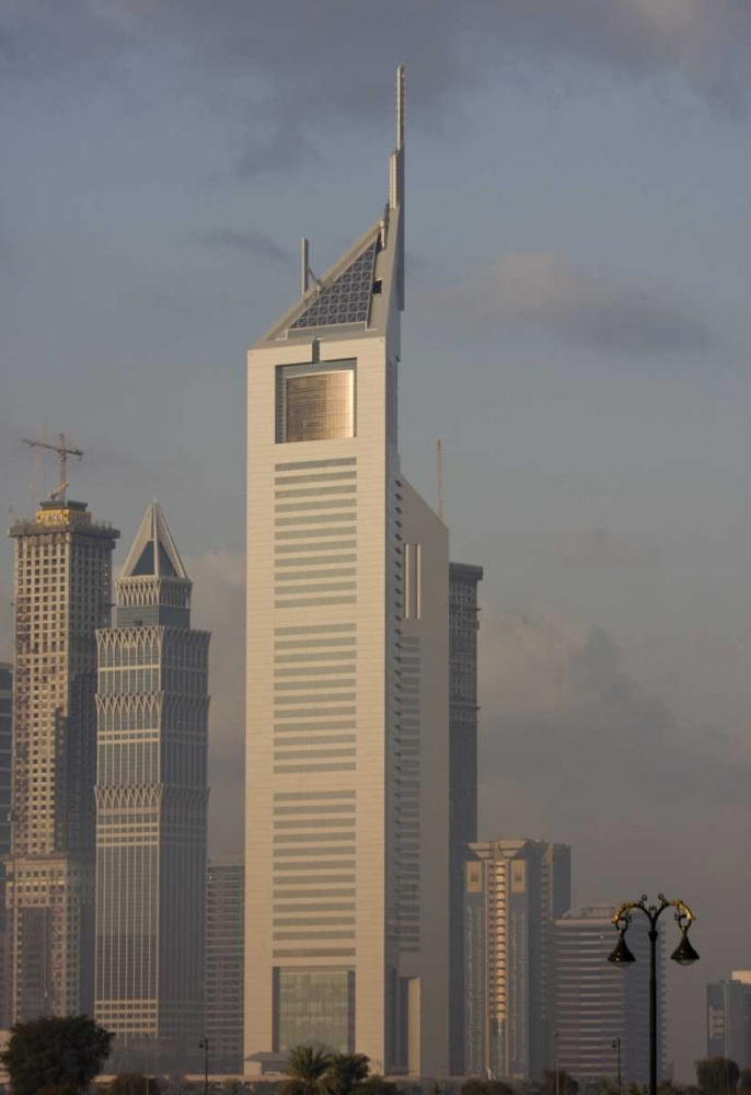 UAE, Dubai Tall Downtown city buildings Young, Bill 136222