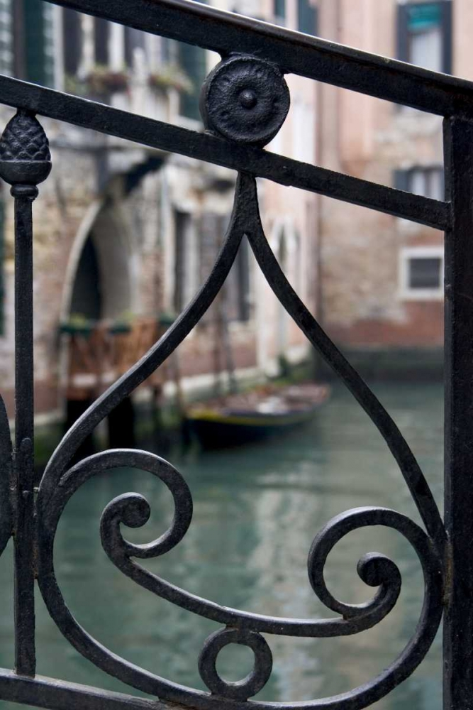 Italy, Venice Stair railing metalwork design Young, Bill 136348