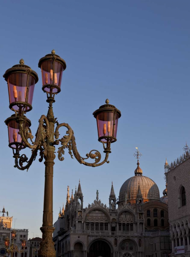 Italy, Venice Ornate lamp on St Marks Square Young, Bill 136429