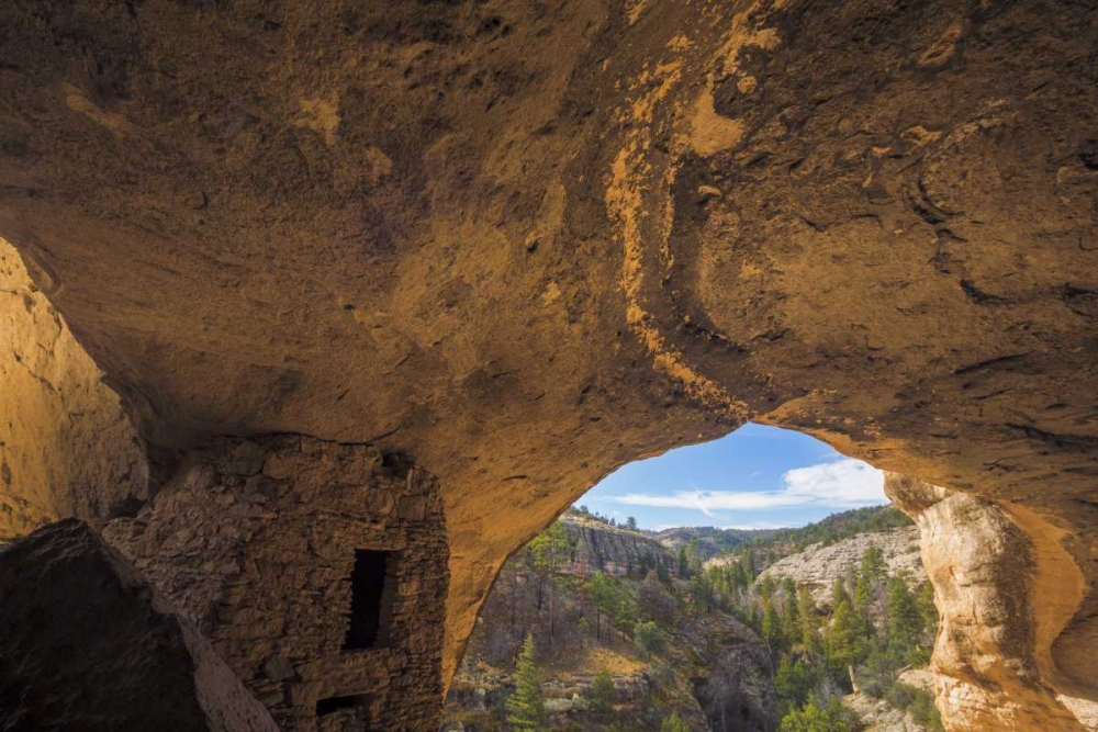 New Mexico, Gila Cliff Dwellings NM Inside ruins Paulson, Don 133430