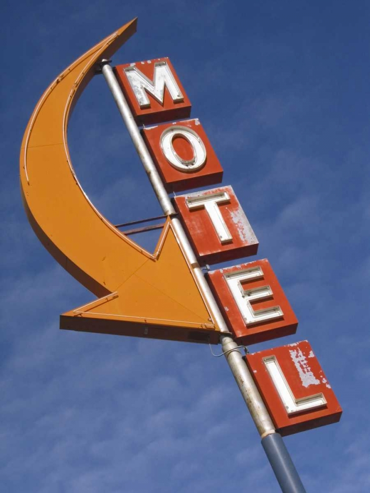 Washington, Cle Elum Detail of plain motel sign Ross, Nancy - Steve 133564