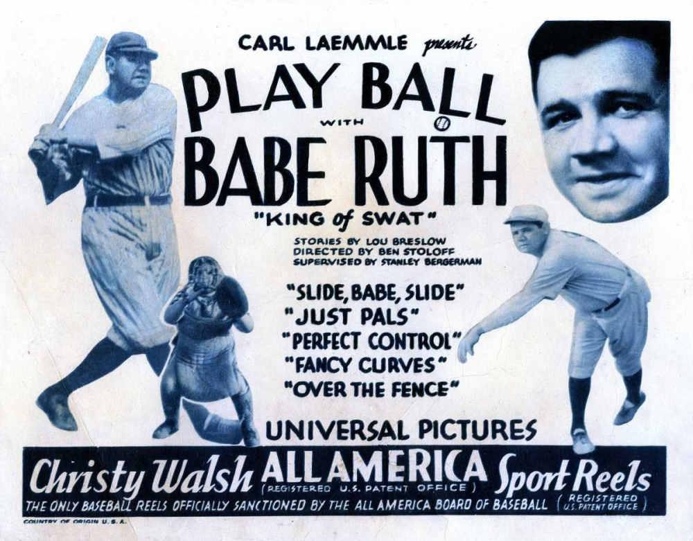 PLAY BALL WITH BABE RUTH Everett Collection 108311