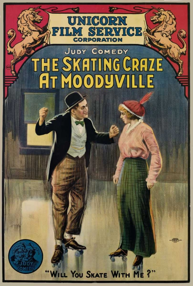 THE SKATING CRAZE AT MOODYVILLE Everett Collection 108179