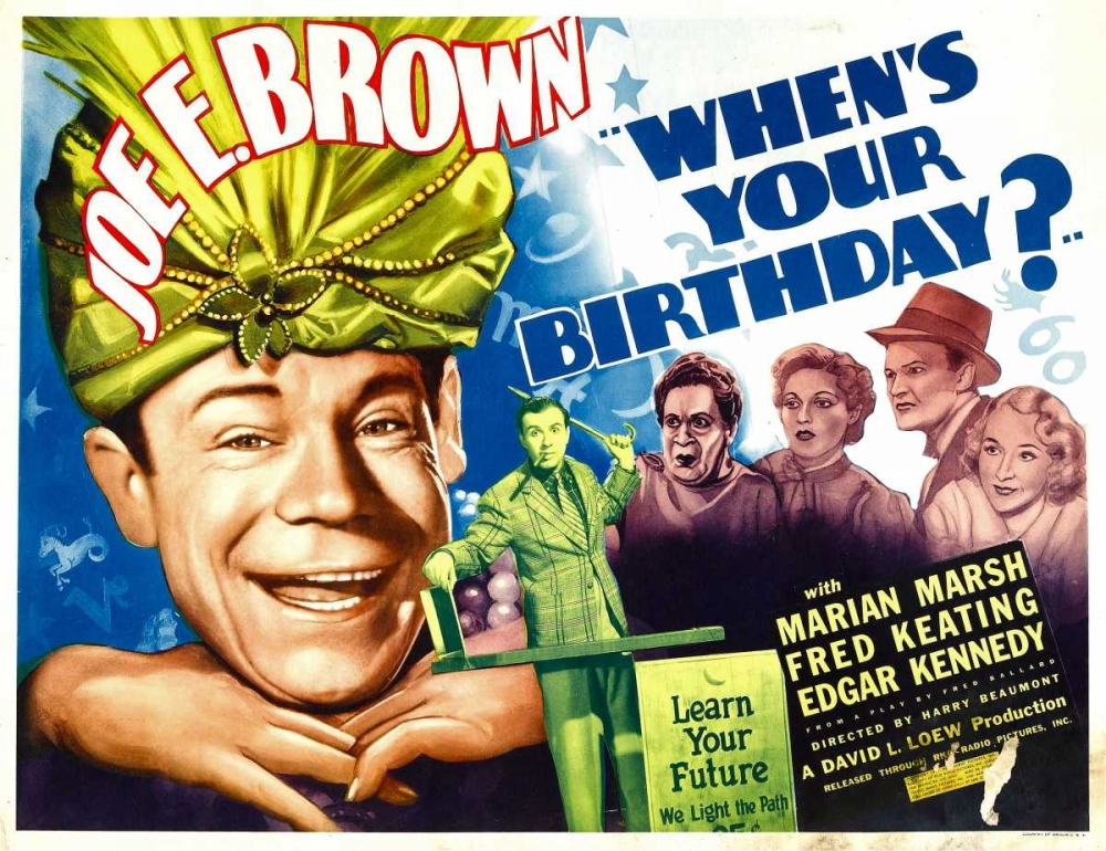 WHENS YOUR BIRTHDAY? Everett Collection 110663