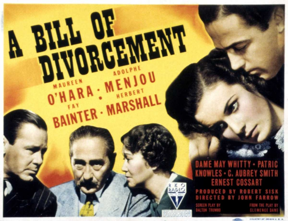 A BILL OF DIVORCEMENT Everett Collection 111670
