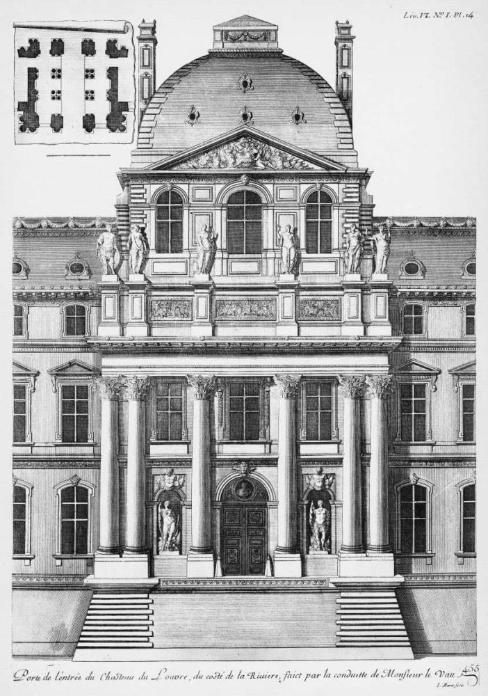 Louvre, Elevation of Entrance, South Facade Blondel, Jacques Francois 122026