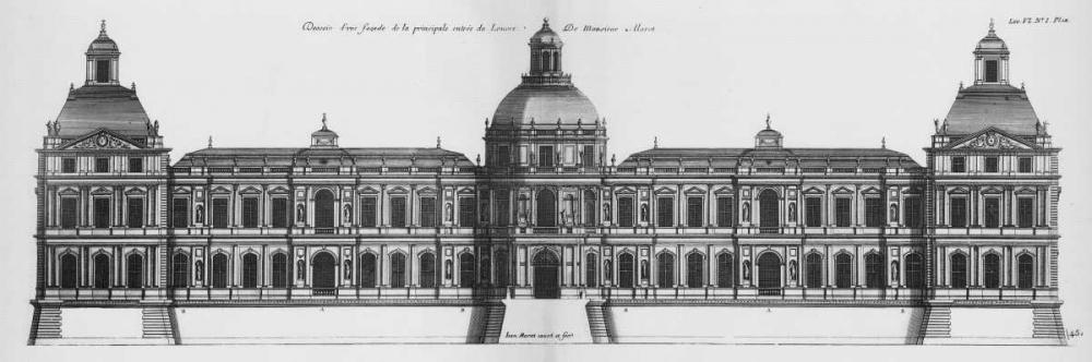 Louvre, Elevation of the Principal Facade Blondel, Jacques Francois 122028