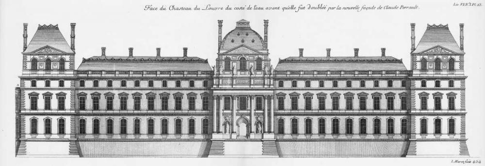 Louvre, Elevation South Facade Facing River Blondel, Jacques Francois 122030