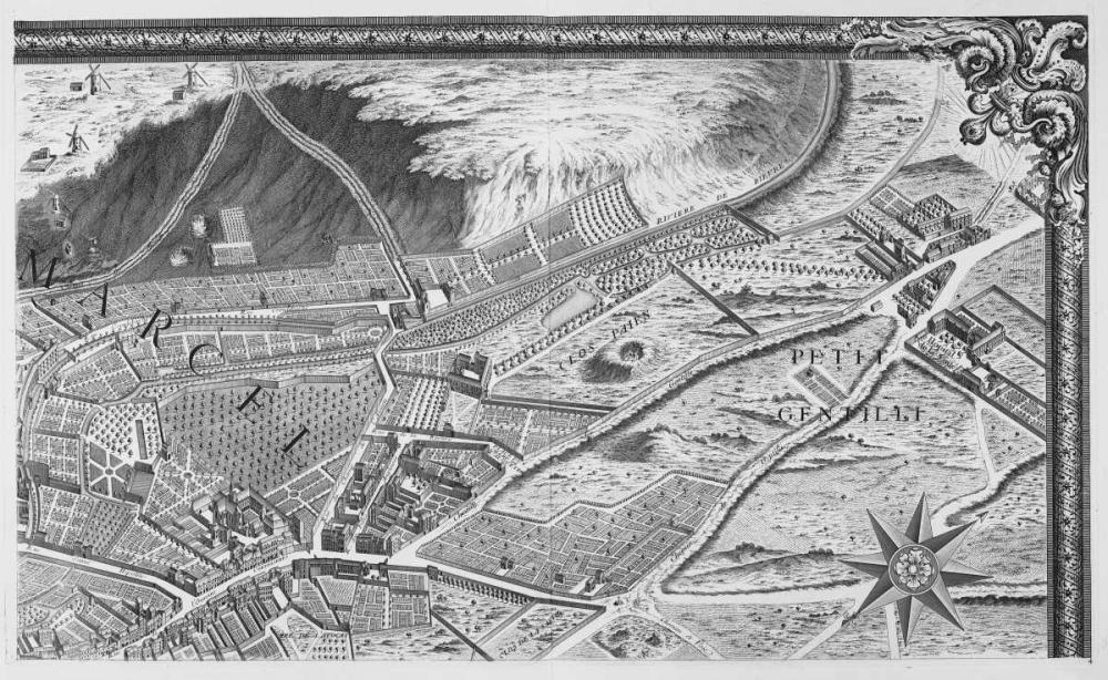 Paris 1739 Sectional map Turgot, Michel-Etienne  120305