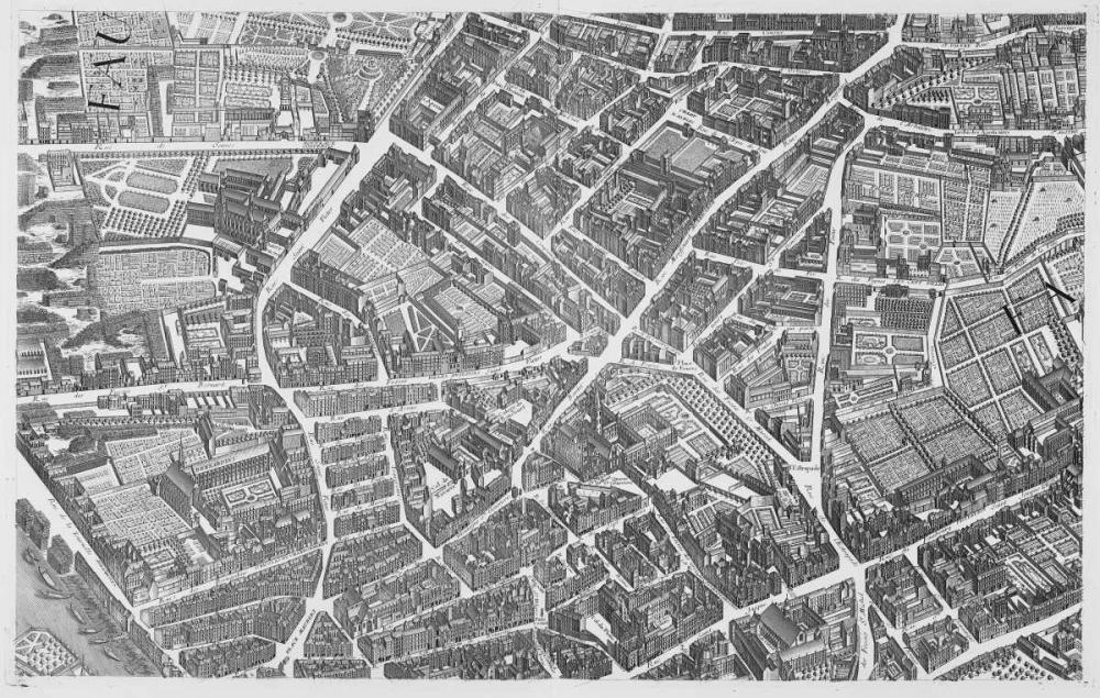Paris 1739 Sectional map Turgot, Michel-Etienne  120308