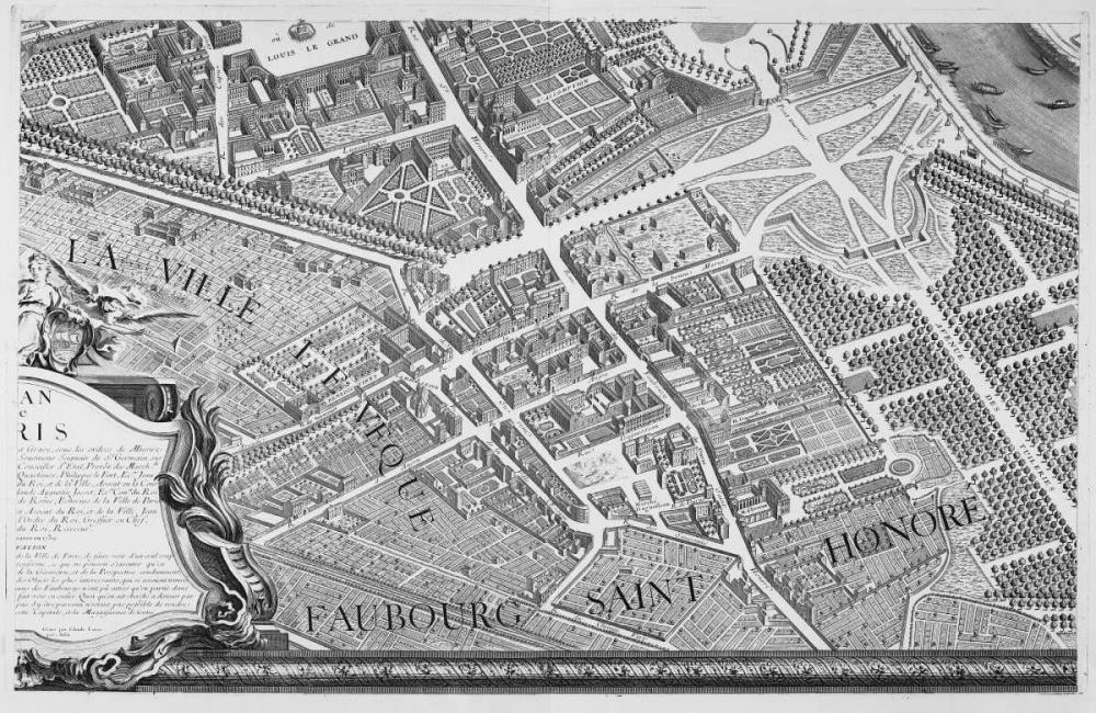 Paris 1739 Sectional map Turgot, Michel-Etienne  120320