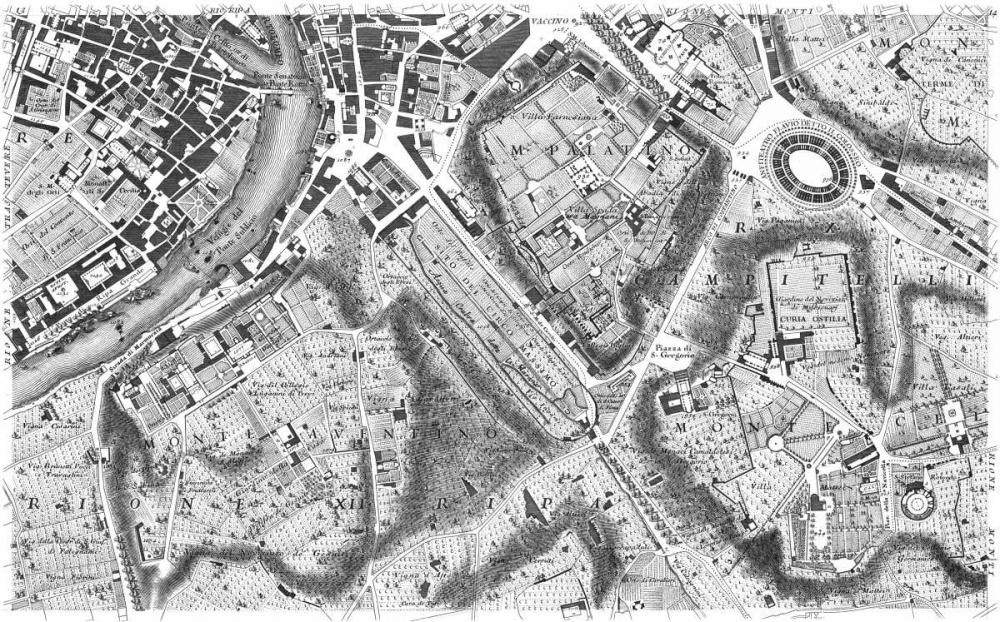 Rome Sectional Map Nolli, Giovanni Battista  120336