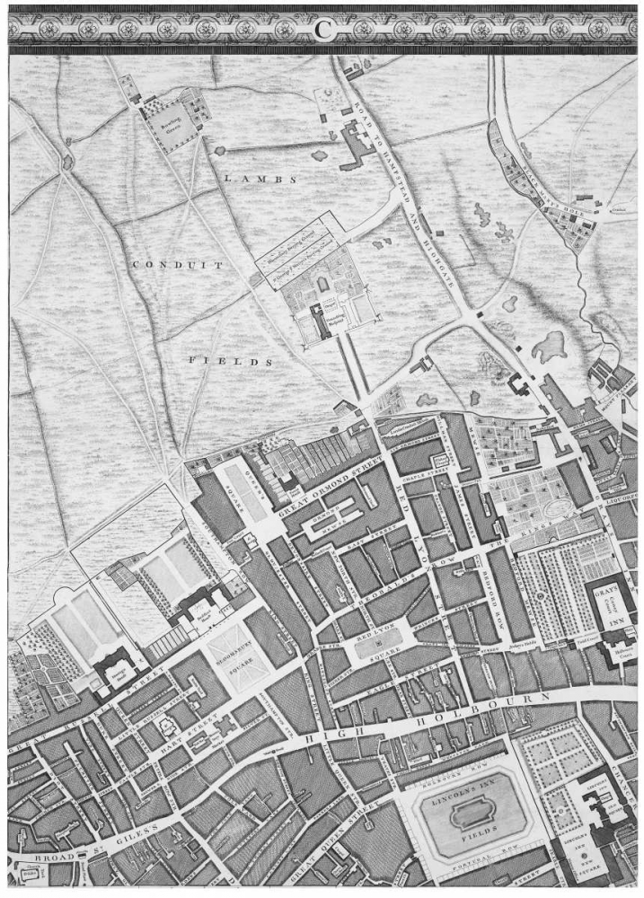 Roque Sectional map of London 1748 Roque, John 120351