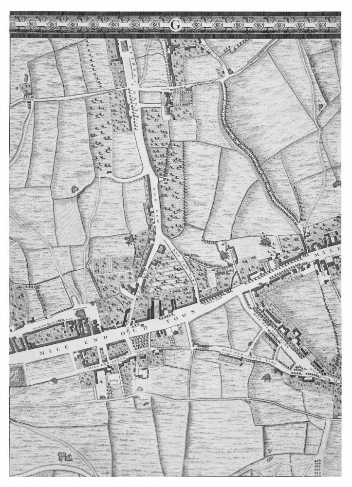 Roque Sectional map of London 1748 Roque, John 120355