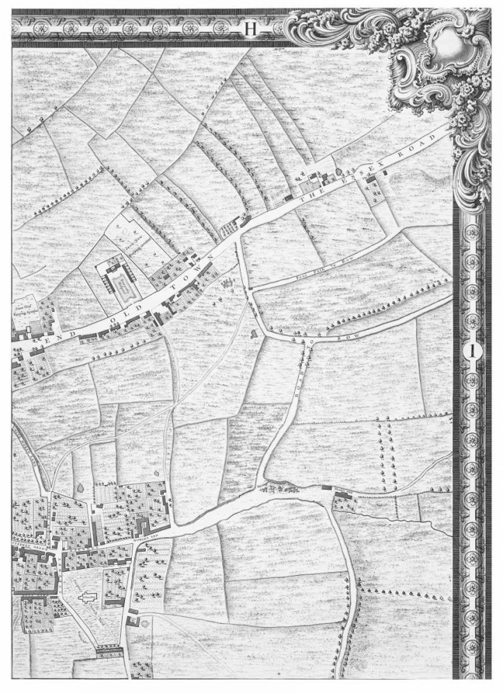 Roque Sectional map of London 1748 Roque, John 120356