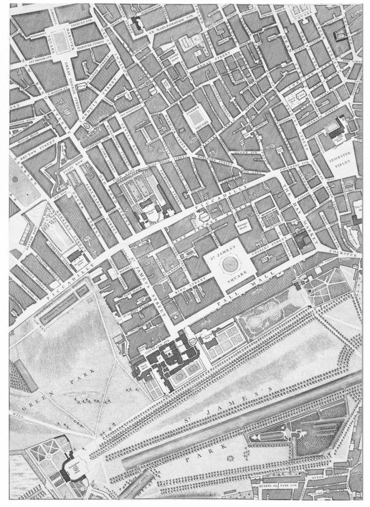 Roque Sectional map of London 1748 Roque, John 120358