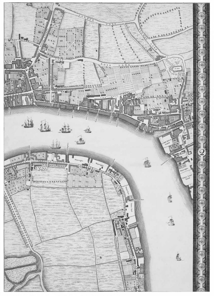 Roque Sectional map of London 1748 Roque, John 120364