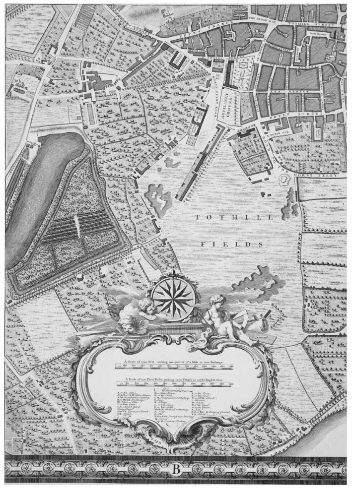 Roque Sectional map of London 1748 Roque, John 120366