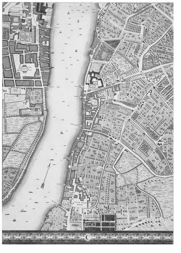 Roque Sectional map of London 1748 Roque, John 120367