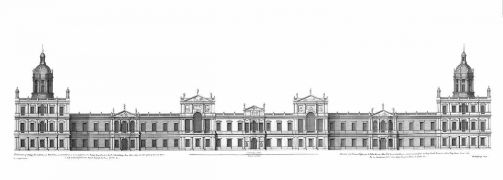 Elevation, Palace of Whitehall towards Park Campbell, Colin 120296
