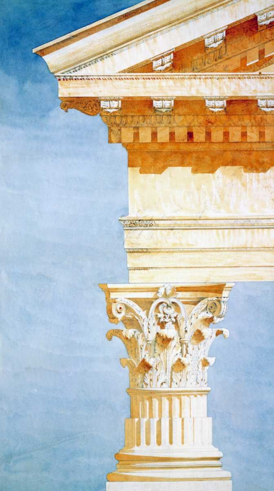 Study of Base, Capital and Entablature Postolle, Victor 122019