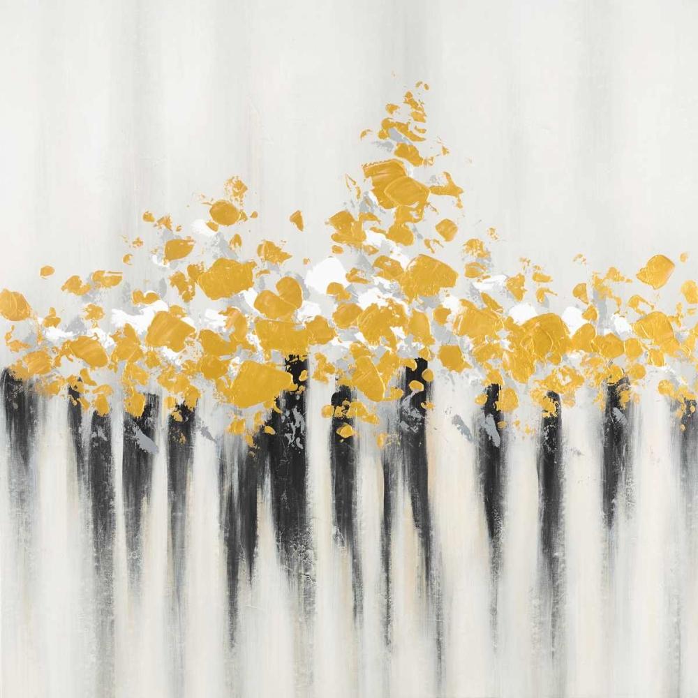 Flowers Gold Abstract Atelier B Art Studio 162992