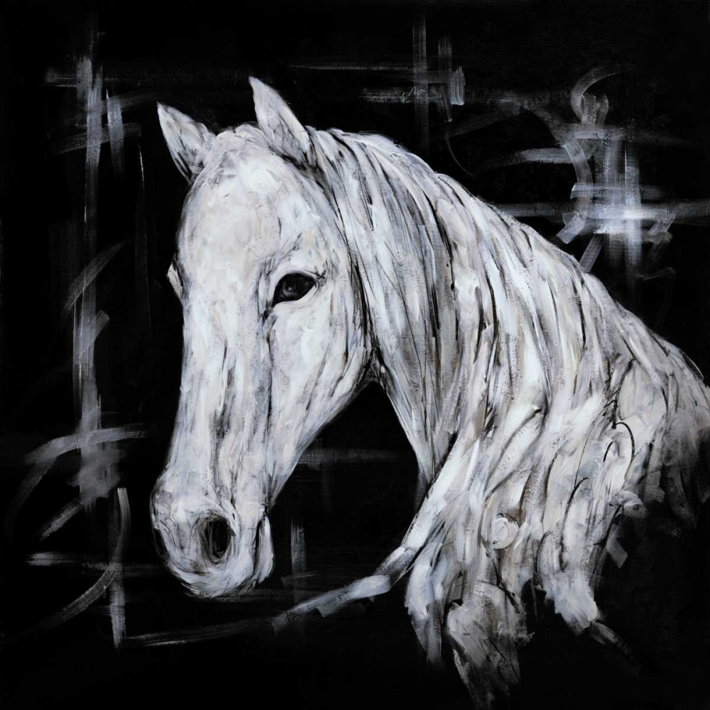 Abstract Horse Profile View Atelier B Art Studio 150858