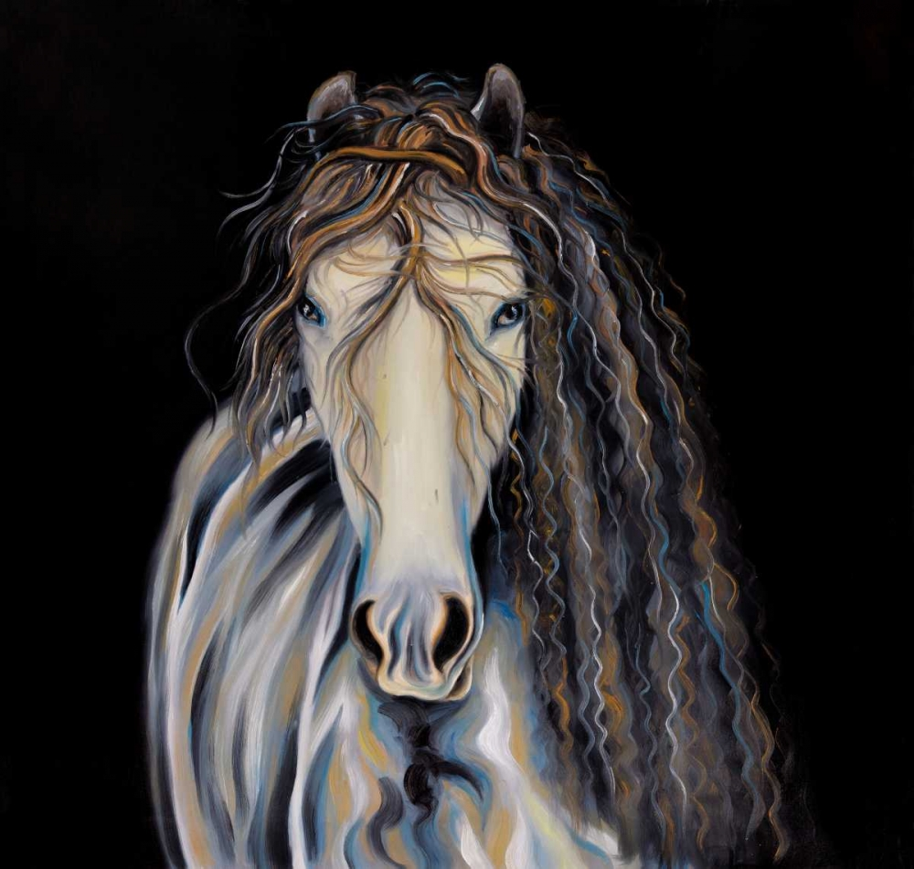 Abstract Horse with Curly Mane Atelier B Art Studio 150867