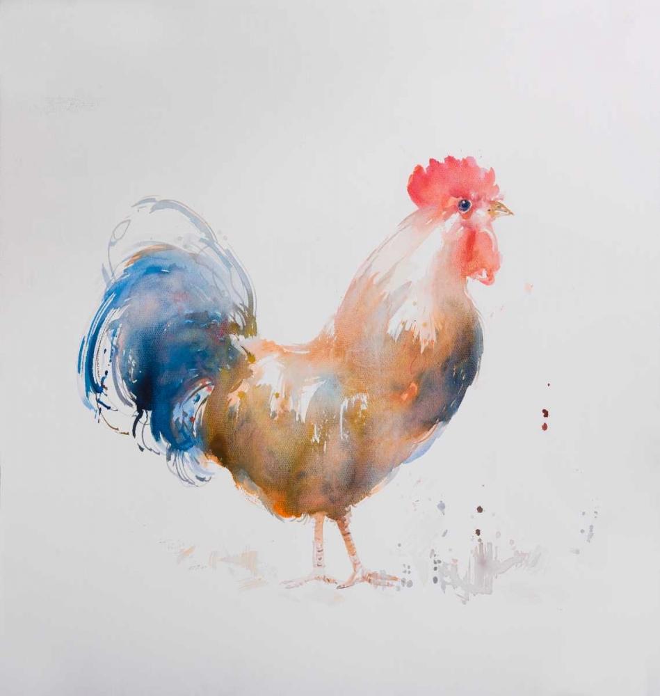 Rooster Watercolor Style Atelier B Art Studio 150875
