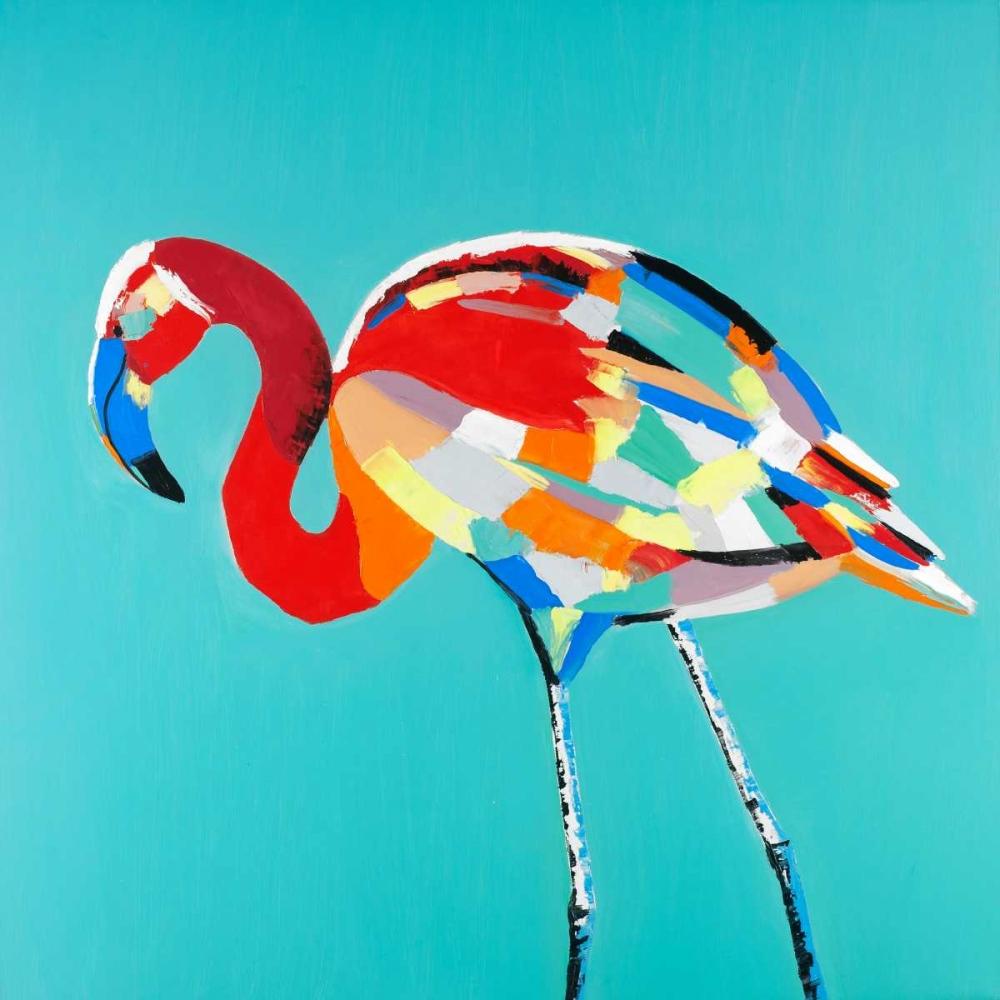 Abstract Flamingo Atelier B Art Studio 162996