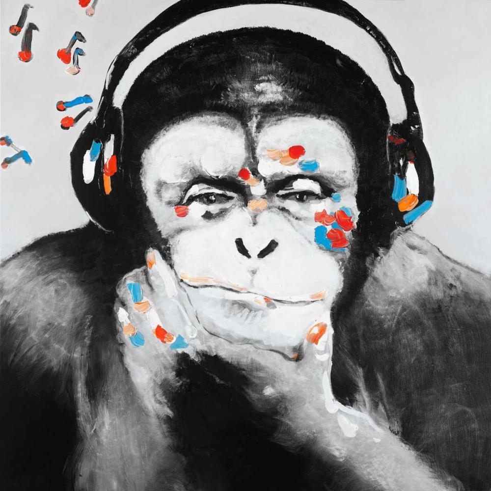 Monkey with Headphones Atelier B Art Studio 163008