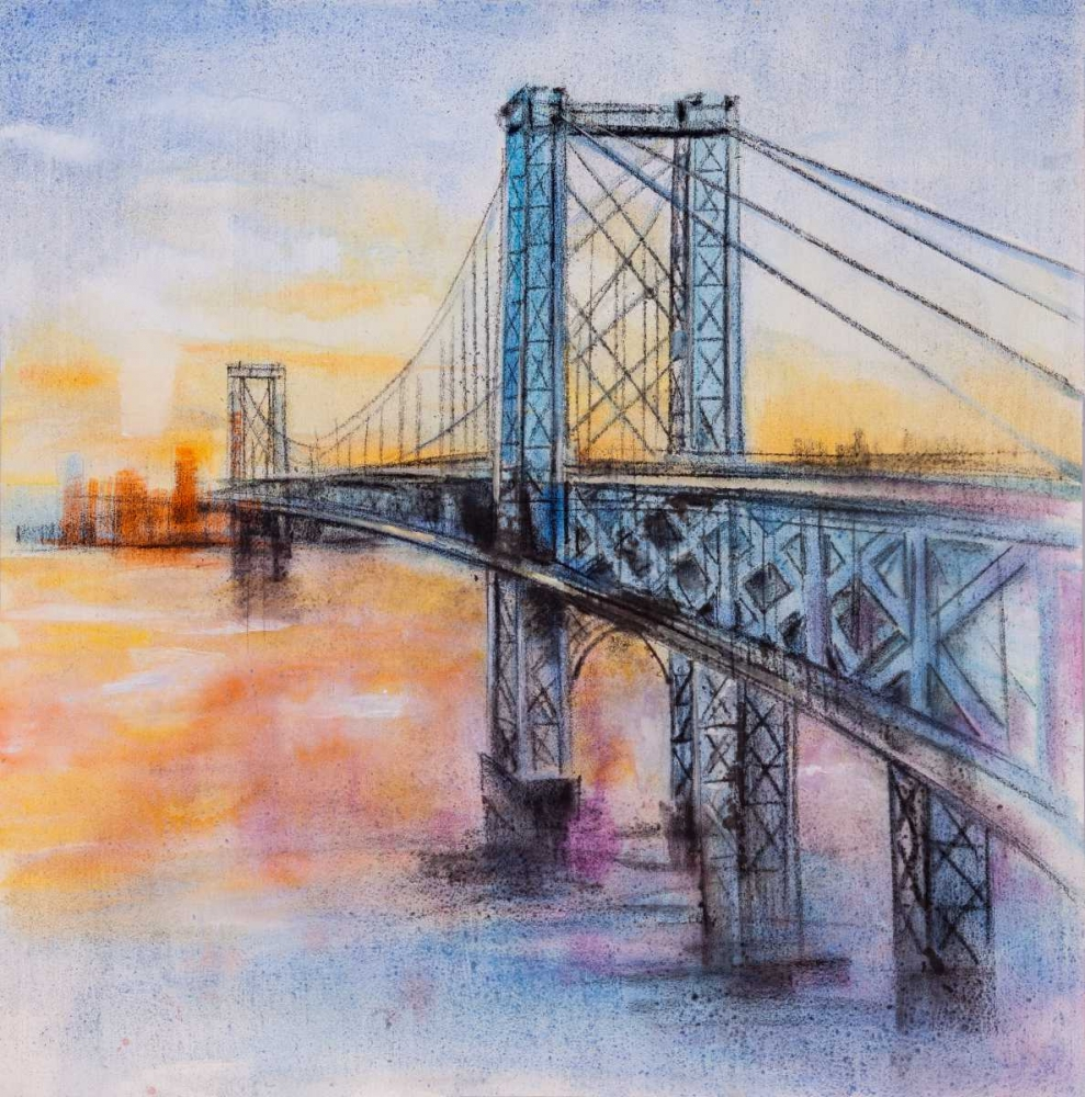 Abstract Brooklyn Bridge Atelier B Art Studio 150878
