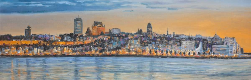 Skyline of Quebec City Atelier B Art Studio 150884