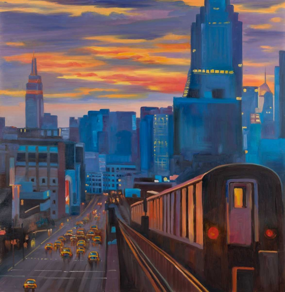 Subway in New-York City Atelier B Art Studio 150897
