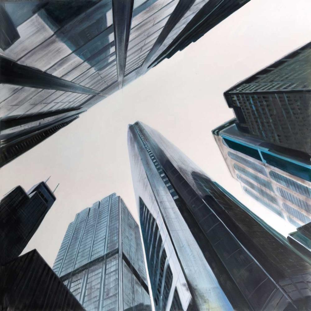 Perspective View of Skyscraper Atelier B Art Studio 150911