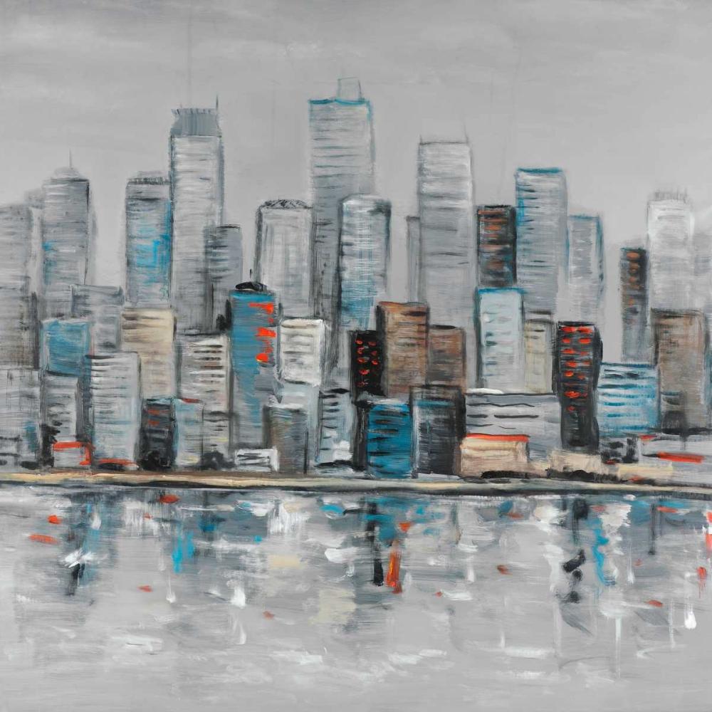 Abstract Urban Skyline Atelier B Art Studio 163013