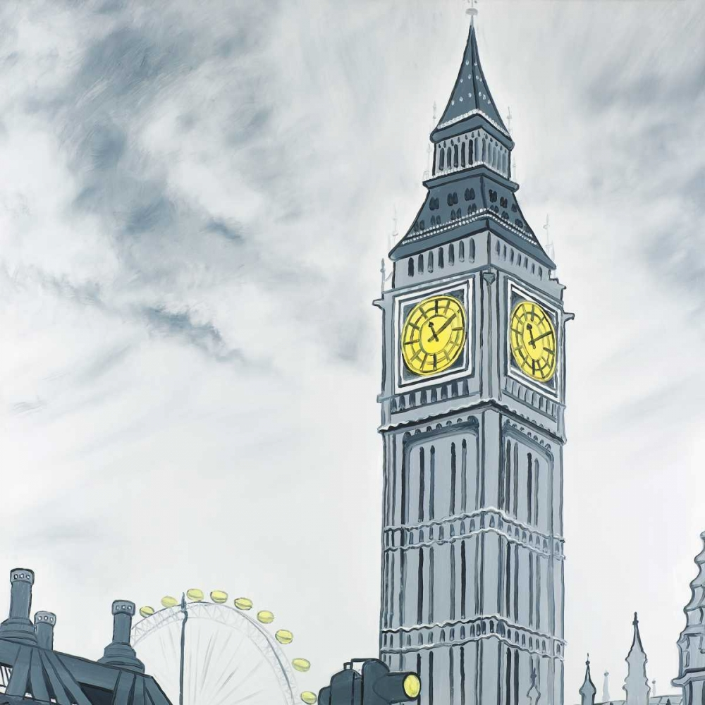 Outline of Big Ben in London Atelier B Art Studio 163019