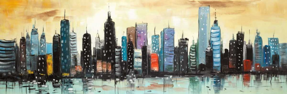Skyline on Abstract Cityscape Atelier B Art Studio 163020