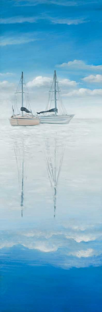 Two Sailboats on the Quiet Lake Atelier B Art Studio 163032