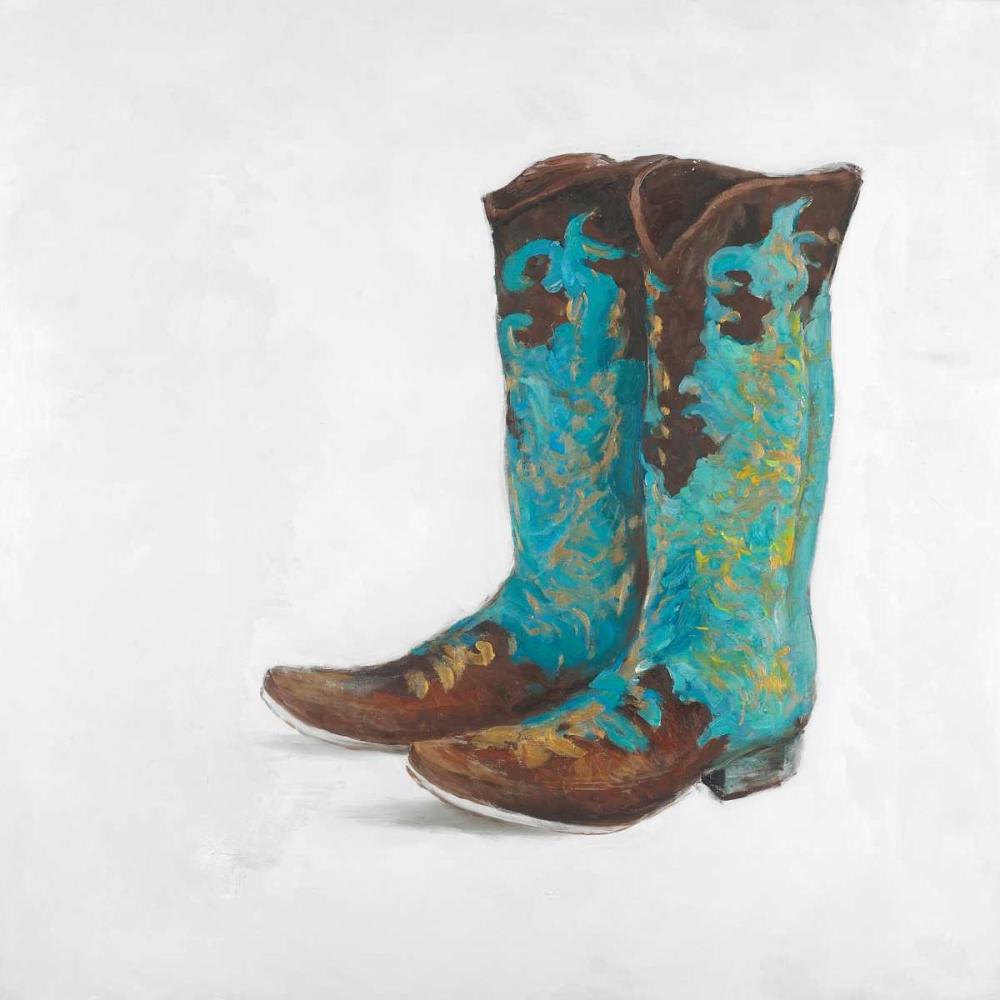 Blue Cowboy Boots Atelier B Art Studio 150950