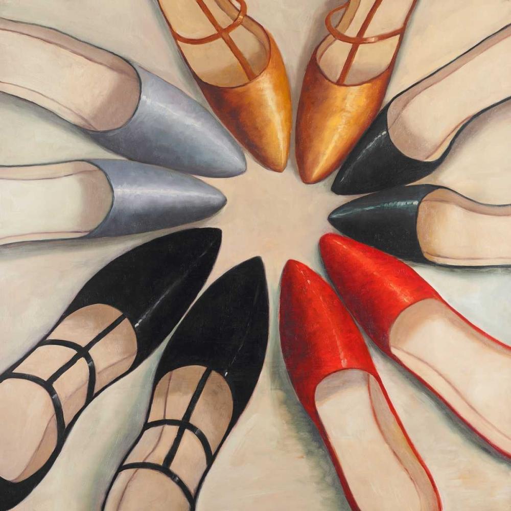Five Womens Ballerina Shoes Style Atelier B Art Studio 150957
