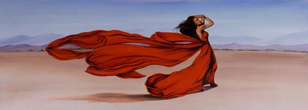 Woman Long Red Dress in the Desert Atelier B Art Studio 150958