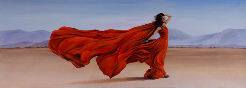 Woman Red Dress in the Desert Atelier B Art Studio 150959