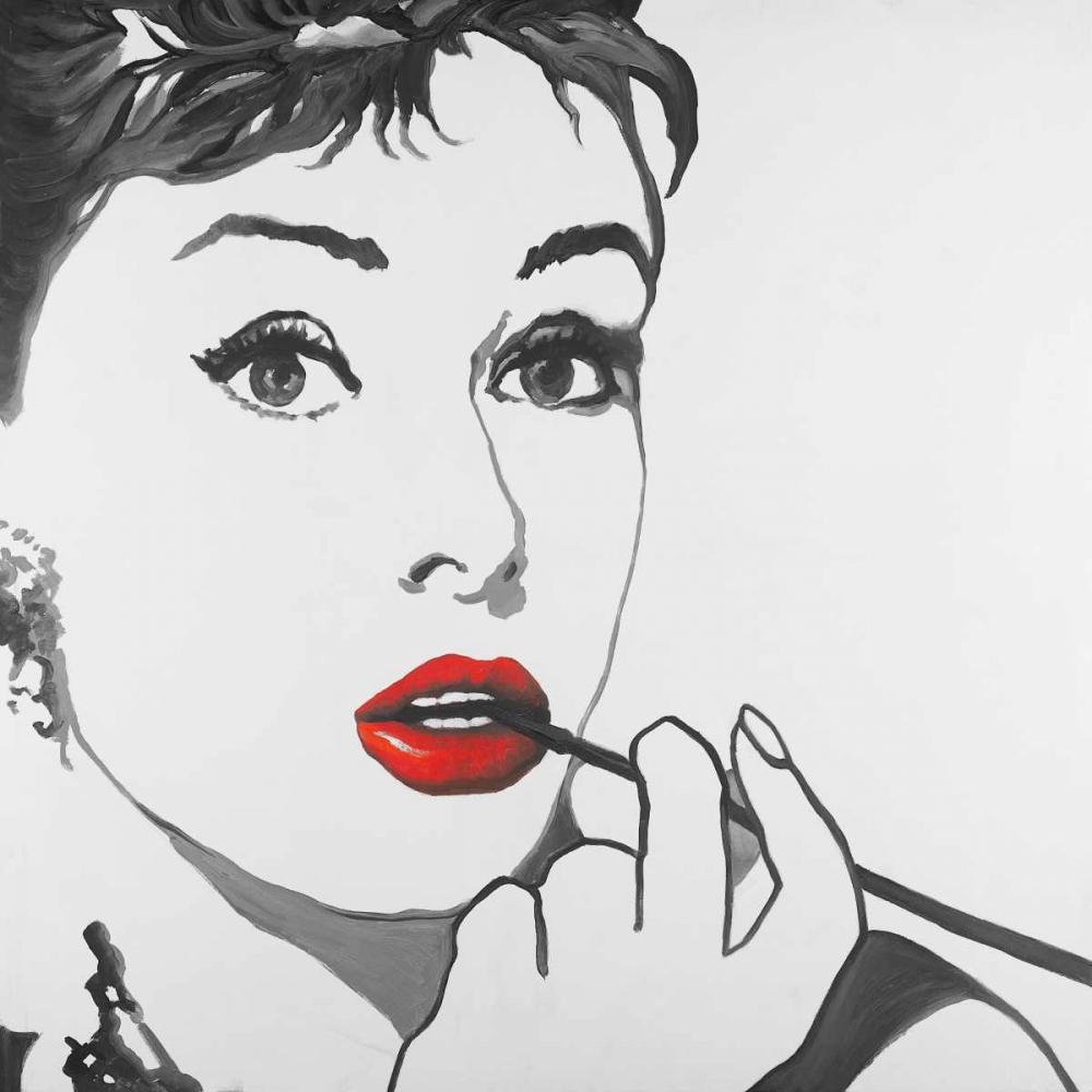 Audrey Hepburn Outline Style Atelier B Art Studio 150962