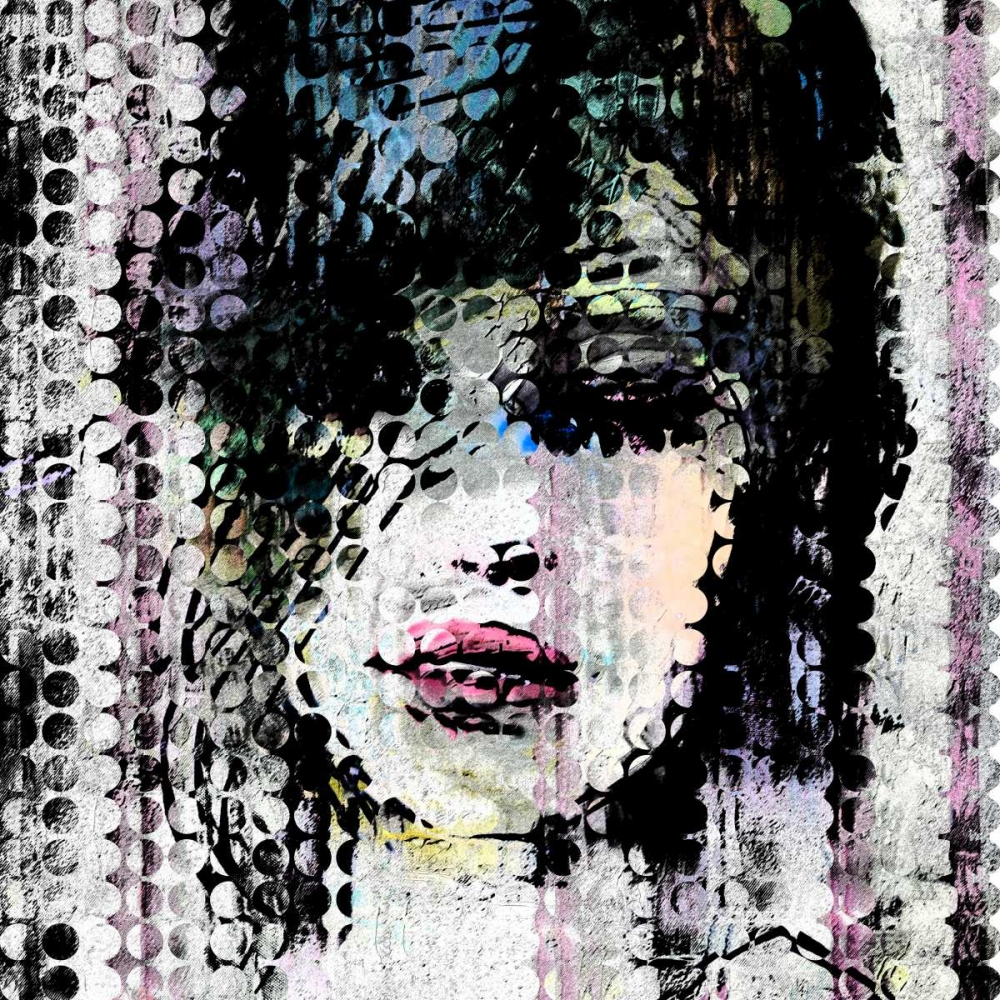 Abstract Colorful Woman Face made from Dots Atelier B Art Studio 150967