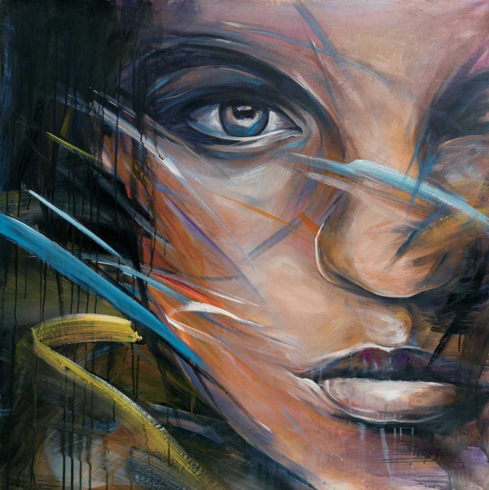 Colorful Woman Face Atelier B Art Studio 150968