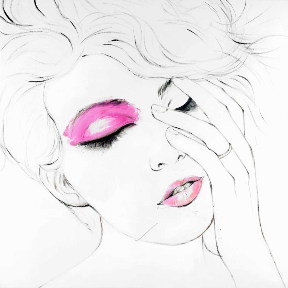 Outline of Female Portrait in Pink Atelier B Art Studio 163040