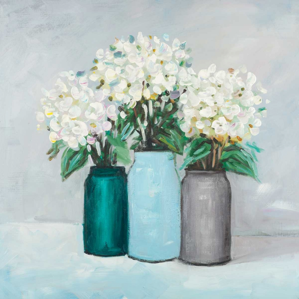 Hydrangea Flowers in Blue Vases Atelier B Art Studio 150979